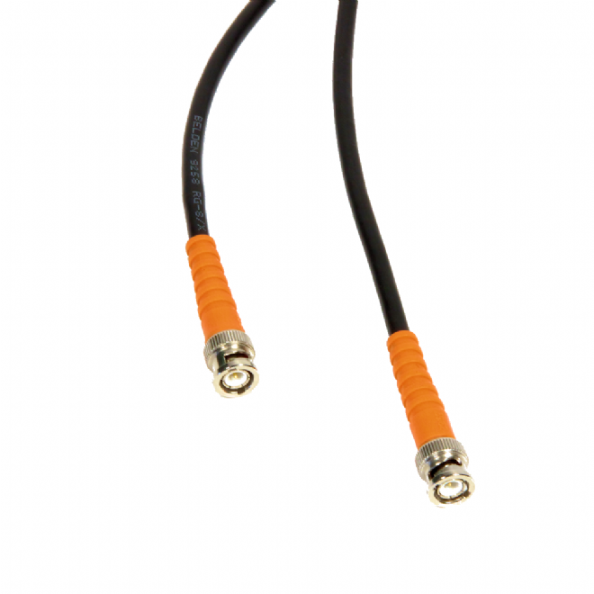 Low Loss RF Cable for Radio Mic Antennas, 50 ohm - 5m